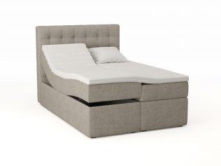 Premium regulerbar seng 140x200 - beige