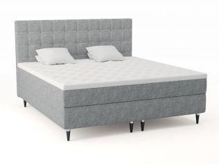 Premium kontinentalseng 200x210 - lys grå