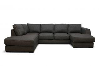 Risør U-sofa A3D - brun