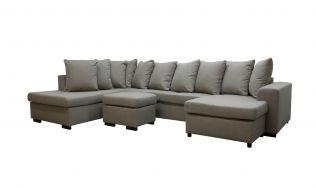 Svolvær A3D U-sofa med sjeselong - beige